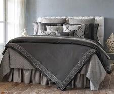 Sferra SILVIO Duvet Cover & Shams 4 PC Set Queen Grey Egyptian Cotton Sateen New