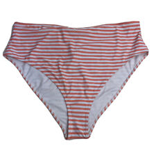Forever 21+ Bikini Bottom High Waist Peach And White Stripe Plus Size 2X