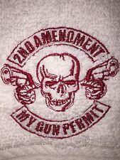 Embroidered Bar Hand Towel & Wash Cloth Set- H0974 2ND AMENDMENT MY GUN PERMIT