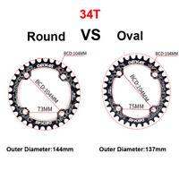 Bike Chainwheel BCD 104mm MTB Round Oval Chainrings 32-38T For FSA Crank