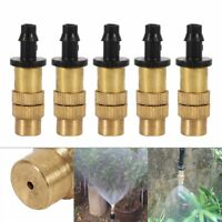5pcs Adjustable Brass Spray Misting Nozzle Garden Sprinklers Irrigation Fitting