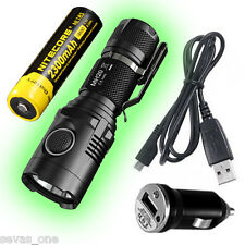 Nitecore MH20 Rechargeable 1000Lm Flashlight - w/ NL183 Battery and Car Adaptor