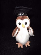 TY BEANIE BABY WISE THE 1998 OWL MWT- FREE US SHIPPING