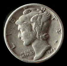 1945-P Mercury 90% Silver Dime Ships Free. Buy 5 for $2 off