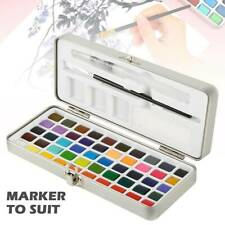 Portable Whirl Solid Watercolor Pigment Paint Set With Water brush Bright Colour