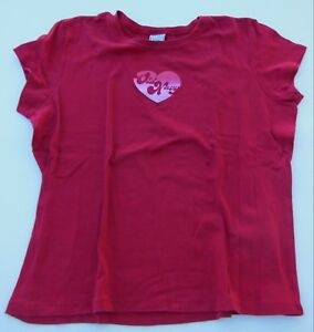 Old Navy Top T-Shirt - Red with Old Navy Heart Design Valentine's - Size Large