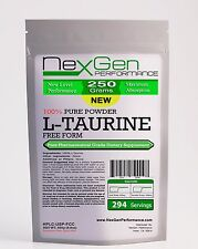 L-TAURINE Powder 250g (8.8oz) - 100% Pure -Amino Acid for Muscle & Energy