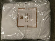 Pottery Barn Teen Suite Ribbon Bedskirt Queen White with Pool Blue Stripe New