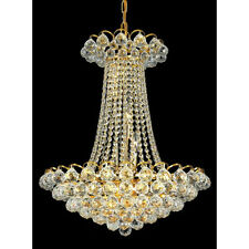 "Palace Blossom 28"" 13 Light Crystal Chandelier Light - Gold lighting Fixture"