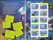 0005+ BLOC COLLECTOR SAUVONS  LES  OCEANS  10 TIMBRES  NEUFS