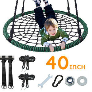 NEW 40'' Spider Web Tree Swing Net For Kids Gifts Adjustable Height Max 660Lbs