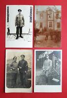 4 x Militär Foto AK Frankreich 1. WK Deutsche Soldaten Kriegsgefangene  ( 36914