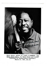 Photo, Black & White, SIGNED Hank Aaron, book promo from a book signing
