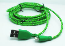 A 1m USB lead cord Charger Data Sync cable flat bradied for iphone5 5c 5s 6 plus