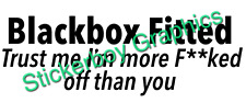 Blackbox Fitted Sticker Funny Car Decal Young driver Insurance Black box 250mm