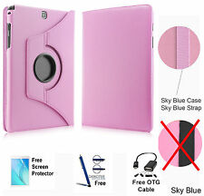 360 Rotating PU Leather Case Cover For Samsung Galaxy Tab A 8.0 T350/P350 Pink
