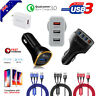 Certified QC3.0 USB Port Charger Fast Charging AU Plug Car & Wall Adapter