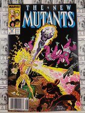 New Mutants (1983) Marvel - #54, Newsstand/UPC Variant, Claremont/Buscema, VF-