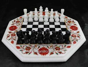 15 Inches Stone Coffee Table Top Marble Chess Table with King Size 2.5 Inches