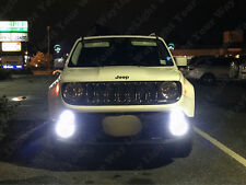 2 x Xenon White Front Fog Lights LED Bulbs for 2015 2016 2017 Jeep Renegade