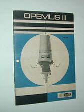 mode d'emploi OPEMUS III pour agrandisseur  photo photographie