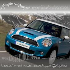 2 FASCE ADESIVE MINI COOPER ONE D S SD STRISCE STRIPES COFANO BONNET DECAL