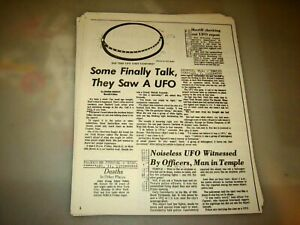 Aerial Phenomenon Clipping And Information Center UFO Aliens Newspaper Clippings
