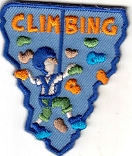 """CLIMBING"" - SPORTS-OUTDOORS-HIKING/Iron On Embroidered Applique Patch"