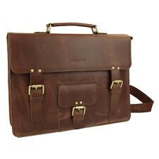 Strongrr 15-in High Quality Genuine Leather Briefcase Business Handbag Shoulder