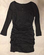 Auth. Dolce Gabbana Classic Grey Wool  Mini Dress Tunic Top. Sz.48