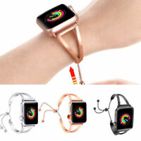 For Apple Watch Series 2 3 4 38 42 MM Stainless Steel Bracelet iWatch Band Strap