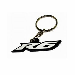 Yamaha R6 Soft Rubber Key Ring Fob Keychain YZF-R6 - White