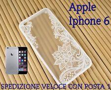 """Cover custodia rigida bordo in gomma smartphone Apple Iphone 6 4.7"""" FIORI LOTO"""