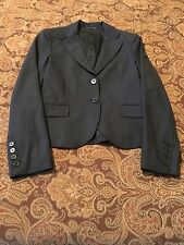 Theory Blue Wool Tailor Fabric Jacket Size 4