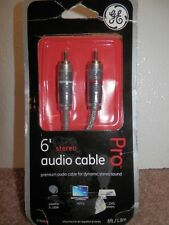 GE PRO 6 FT STEREO PREMIUM  AUDIO CABLE MODEL#37606