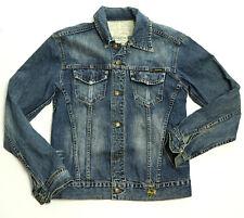 Mens / Womens  Crocker Slim Fit Button Front Blue Wash Jean Denim Jacket S / M