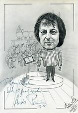 ANDRE PREVIN-RARE HAND SIGNED PENCIL DRAWING. (ARTIST BRIAN WHITE)-AFTAL/UACC