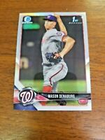 MASON DENABURG 2018 BOWMAN DRAFT CARD BDC-164 NATIONALS (FIRST ROOKIE REFRACTOR)