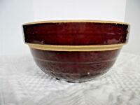 Antique Primitive Original McCoy Beehive Pattern 9-Inch Bowl/Salt-Glazed/Pre-WWI