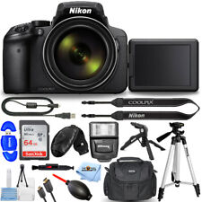 Nikon COOLPIX P900 16.0MP Digital Camera 26499 + 64GB + Flash + Tripod Bundle