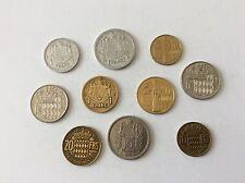 Monaco Lot de 10 pièces TTB