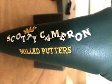 Pre-Titleist - Scotty Cameron- Augusta Green Milled Putters Headcover MINT RARE