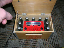 COCA-COLA Wood Crate AM/FM Clock Radio First Production Piece MAY 28, 2002