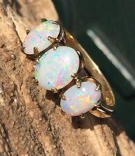 Estate 10k Art Deco 2.75 Carat Opal Cabochons Size 5 #1505 Make Offer!