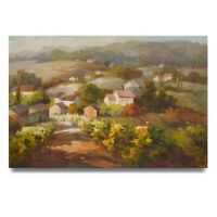 NY Art - Impressionist Wine Country Vineyard 24x36 Oil Painting on Canvas - Sale