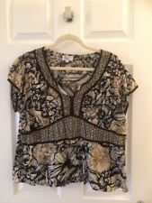 Klass Collection 100% Cotton Fitted Top Size 14