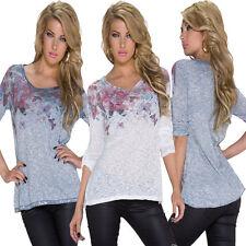 Hüftlange Damenblusen, - tops & -shirts mit Tiermuster für Party-Anlässe