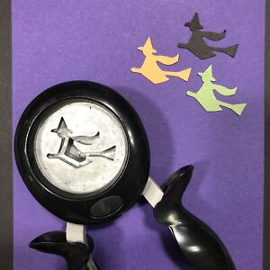 Fiskars FLYING WITCH Squeeze Punch Halloween Scrapbook