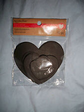 Black Hearts*Recollections Craft It Valentine Embellishments 12 piece