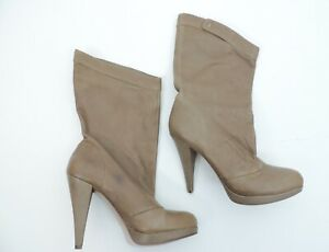 Women's BCBGeneration Yaselle Taupe Boot Heels Size 8.5B/38.5